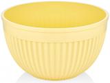 Салатник круглий Bager пластиковий 4000мл, жовтий