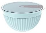 Салатник з кришкою Bager пластиковий 2000мл, блакитний