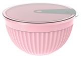 Салатник с крышкой Bager пластиковый 2000мл, розовый