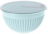 Салатник з кришкою Bager пластиковий 4000мл, блакитний