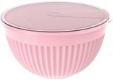 Салатник с крышкой Bager пластиковый 4000мл, розовый