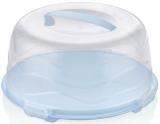 Тортовниця-контейнер Bager Ø30см блакитна з кришкою, пластик