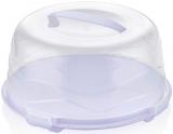 Тортовниця-контейнер Bager Ø30см бузкова з кришкою, пластик