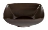 Набір 6 салатників IPEC London 17х17см кам'яна кераміка, коричневі