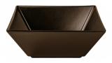Набор 6 салатников IPEC Tokyo 13х13см каменная керамика, коричневый