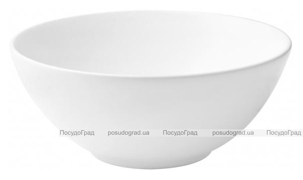 Набор 6 салатников IPEC Monaco Ø22см каменная керамика, белые