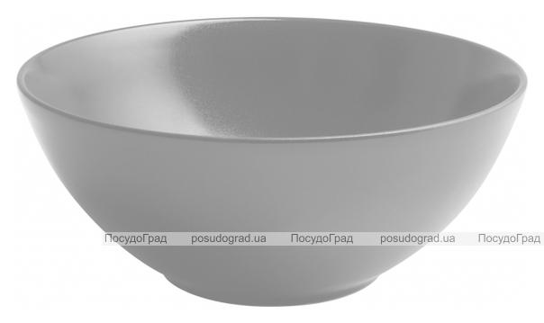 Набор 6 салатников IPEC Monaco Ø22см каменная керамика, серые