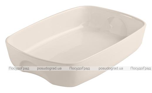 Форма для выпечки керамическая Pyrex Curves 28х20см, кремовая