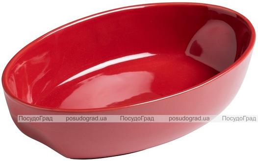Форма для випічки керамічна Pyrex Curves овальна 33х21см, червона
