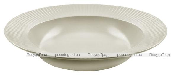 Набор 6 суповых тарелок IPEC Atena Ø23см каменная керамика, айвори