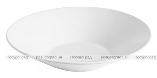Набор 6 суповых тарелок IPEC Cairo Ø23см каменная керамика, белые