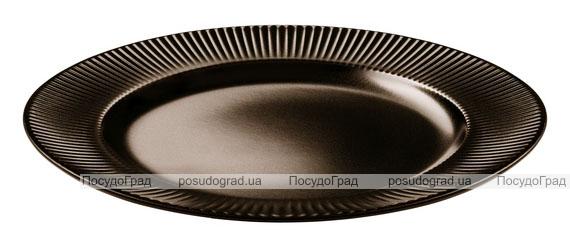 Набор 6 десертных тарелок IPEC Atena Ø21см каменная керамика, коричневые