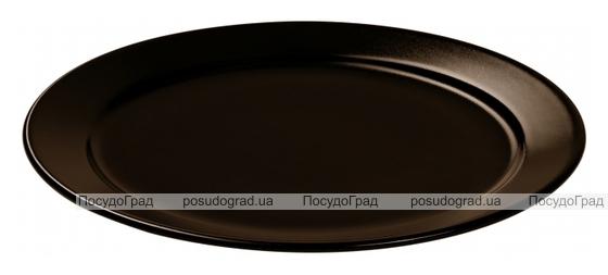 Набор 6 десертных тарелок IPEC Bari Ø19см каменная керамика, коричневые