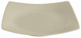 Набір 6 десертних тарілок IPEC London 21х21см кам'яна кераміка, бежеві