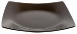 Набор 6 десертных тарелок IPEC London 21х21см каменная керамика, коричневые