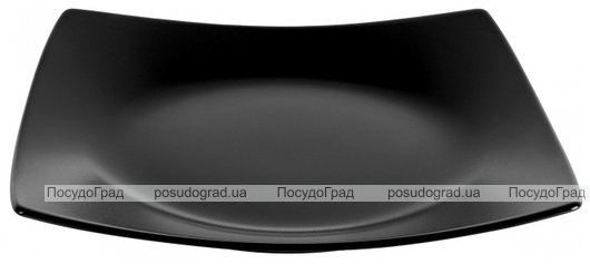 Набор 6 десертных тарелок IPEC London 21х21см каменная керамика, черные