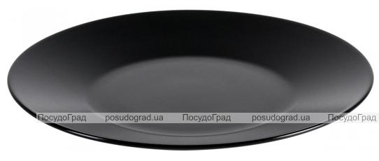 Набор 6 обеденных тарелок IPEC Cairo Ø27см каменная керамика, черные