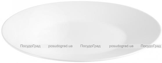 Блюдо круглое IPEC Cairo Ø31см каменная керамика, белое
