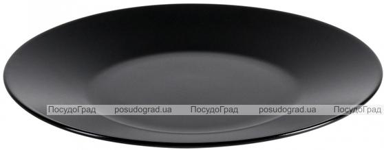 Блюдо круглое IPEC Cairo Ø31см каменная керамика, черное