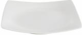 Набір 6 обідніх тарілок IPEC London 25х25см кам'яна кераміка, білі