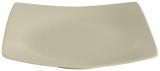 Набор 6 обеденных тарелок IPEC London 25х25см каменная керамика, бежевые