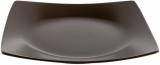 Набір 6 обідніх тарілок IPEC London 25х25см кам'яна кераміка, коричневі