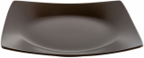 Набор 6 обеденных тарелок IPEC London 25х25см каменная керамика, коричневые