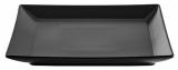 Набір 6 обідніх тарілок IPEC Tokyo 24х24см кам'яна кераміка, чорні