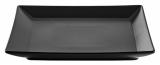 Набір 6 обідніх тарілок IPEC Tokyo 26х26см кам'яна кераміка, чорні