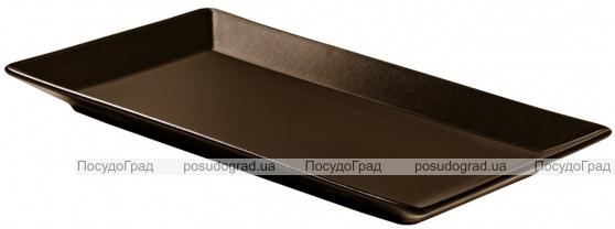 Блюдо IPEC Tokyo 34х22см каменная керамика, коричневое