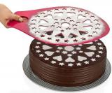 Трафарет для прикраси торта Qlux 35х27см, пластиковий