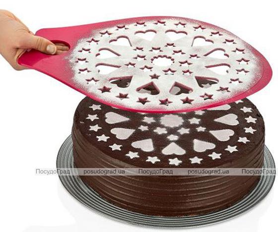Трафарет для украшения торта Qlux 35х27см, пластиковый