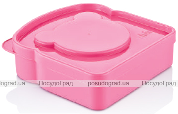 Ланч-бокс Qlux Panda 12х13х4см, пластиковый
