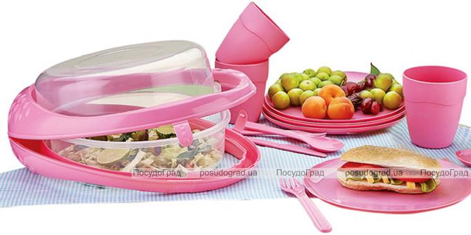 Набор для пикника Qlux на 6 персон 32 предмета в контейнере