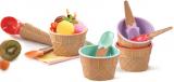 Набір для морозива Qlux 9 предметів, пластик