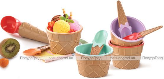Набір для морозива Qlux 4 предмети, пластик