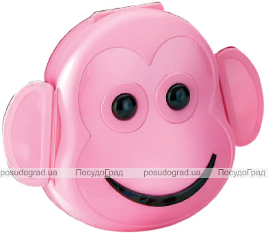 Ланч-бокс Qlux Monkey 12х13х6см, пластиковый