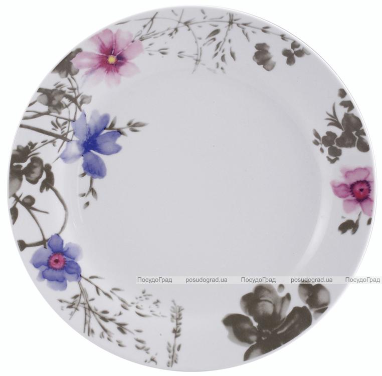 Набор тарелок VaBene Diva Blue фарфор Ø27см подстановочная 6 штук