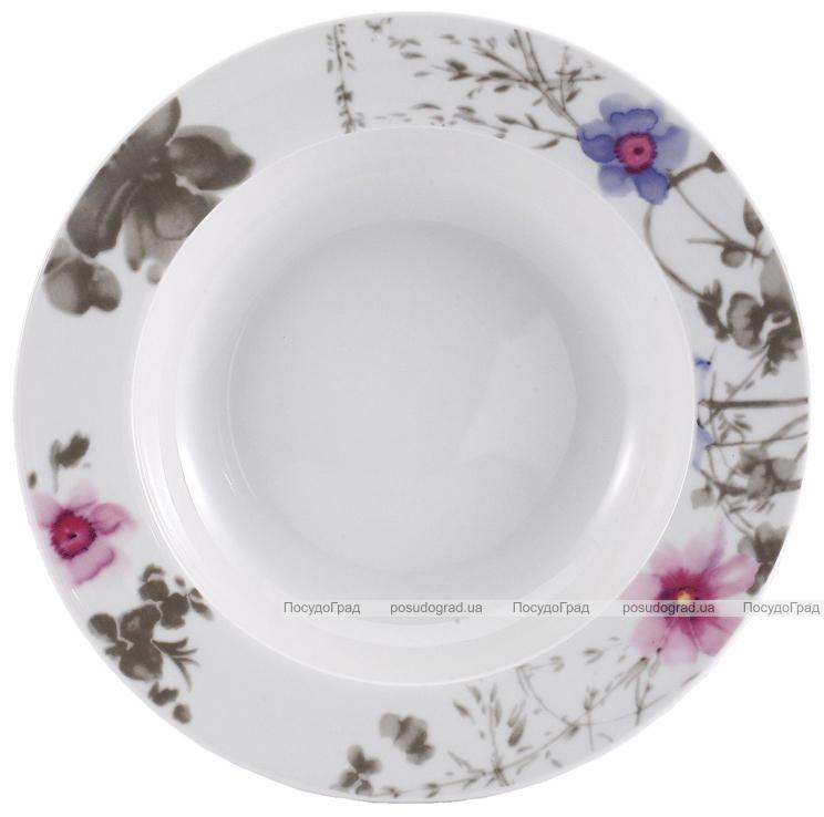Набор тарелок VaBene Diva Blue фарфор Ø22см суповая 6 штук