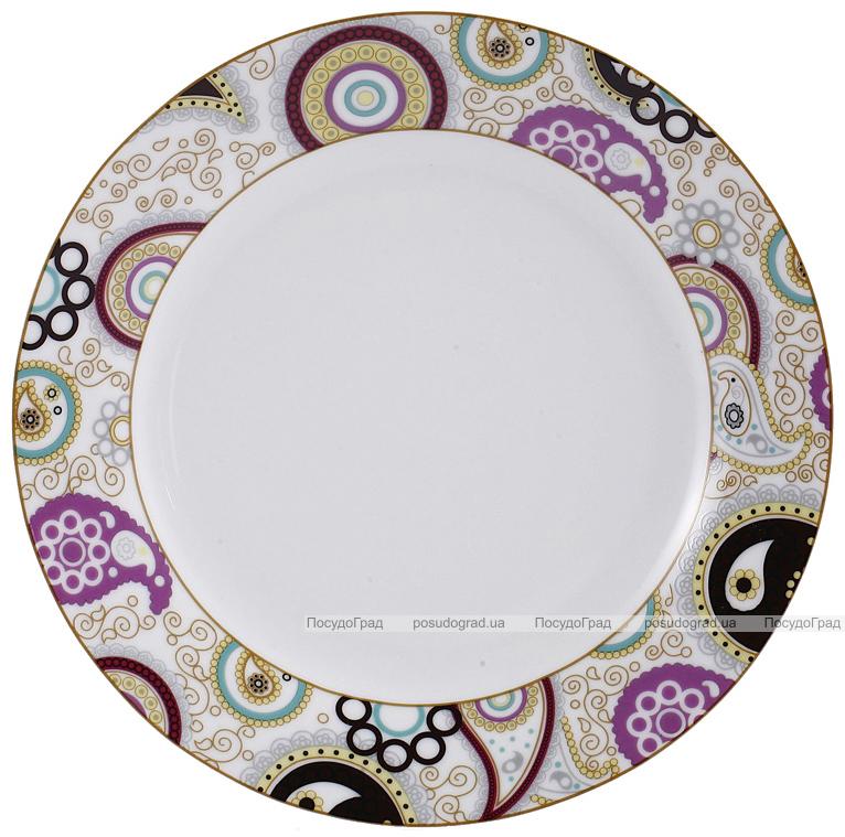 Набор тарелок VaBene Diva Gold фарфор Ø27см подстановочная 6 штук