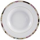 Набор тарелок VaBene Diva Gold фарфор Ø22см суповая 6 штук