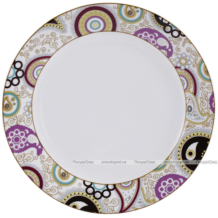 Набор тарелок VaBene Diva Gold фарфор Ø19см закусочная 6 штук