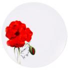 Набор тарелок VaBene Diva Poppy фарфор Ø27см подстановочная 6 штук