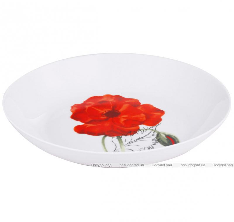 Набор тарелок VaBene Diva Poppy фарфор Ø21см суповая 6 штук