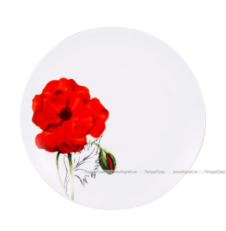 Набор тарелок VaBene Diva Poppy фарфор Ø19см закусочная 6 штук