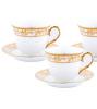 Чайный сервиз Va Bene Gold-086: 6 чашек 220мл и 6 блюдец
