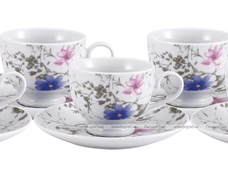 Чайный сервиз VaBene Diva Цветок 220мл 12 предметов
