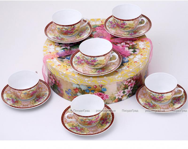 Чайный сервиз VaBene Diva Букет 240мл 13 предметов