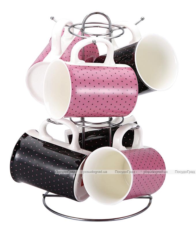 "Набор кружек VaBene ""Pink&Black"" 250мл 7 предметов"