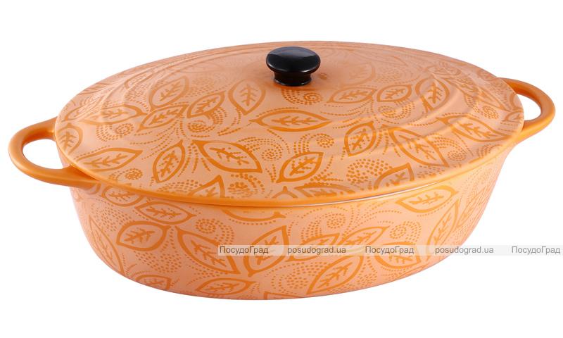 Кастрюля-гусятница керамическая VaBene Orange 2,6л с крышкой